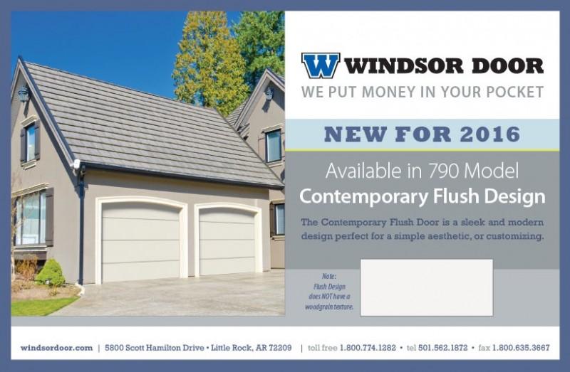 Contemporary Flush New Product Release Windsor Door